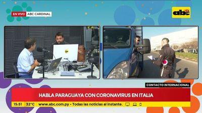 Habla paraguaya con coronavirus en Italia