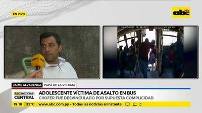 Adolescente víctima de asalto en bus