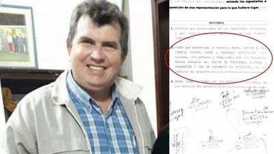 Denuncian al intendente de Santiago Misiones Ignacio Larré por lesión de confianza, estafa y producción y uso de documentos no auténticos