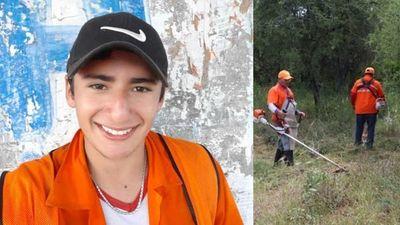 Joven humilde de San Patricio sufrió accidente laboral, está en terapia y sus amigos piden colaboración para ayudarlo