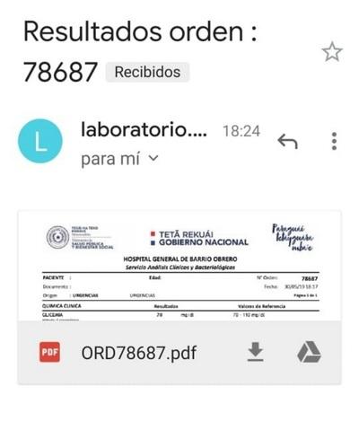 Pacientes de Salud Pública reciben resultados de análisis por correo electrónico