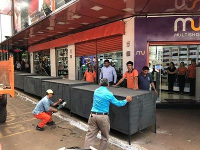 Desmantelan casillas instaladas irregularmente