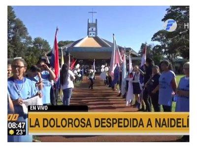El último adiós a Naidelin en Minga Guazú