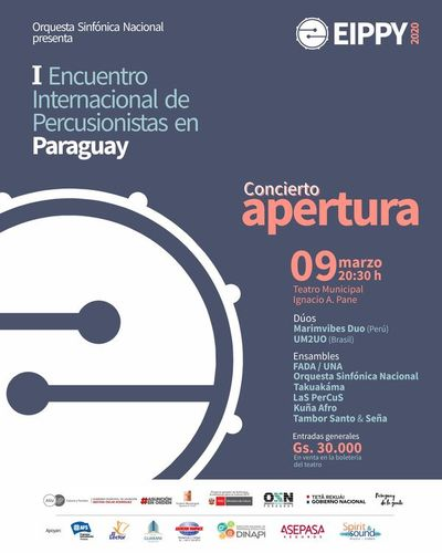 Apertura del I Encuentro Internacional de Percusión en el Teatro Municipal