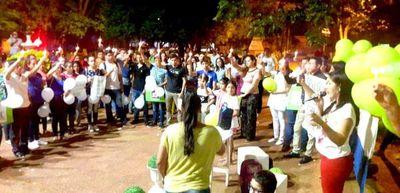 """Marcha pacifica """"Con los niños y niñas No"""" en San Juan Nepomuceno"""
