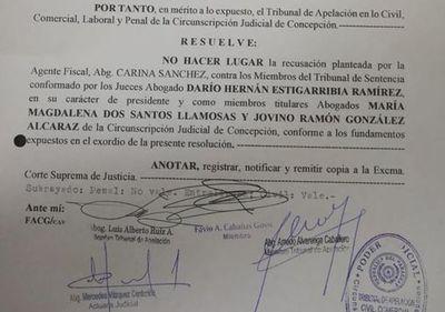 Caso Chilavert: rechazan recusación contra Tribunal de Sentencia