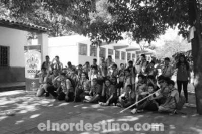 Boys Scouts de la Agrupación N° 29 Acosta Ñu realizaron una campaña de limpieza y arborizaron en Horqueta