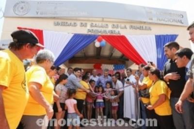 Gobierno Nacional inauguró cinco nuevas Unidades de Salud de la Familia en Concepción con financiamiento de ITAIPU