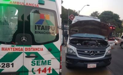 HOY / Criminal desidia: ambulancia del SEME descompuesta en plena emergencia
