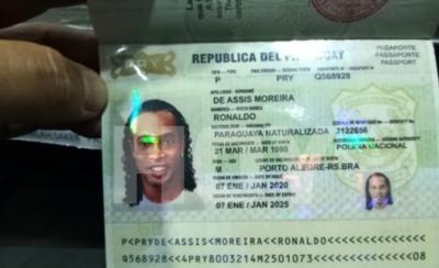 HOY / Ronaldinho habría ingresado al país con pasaportes falsos