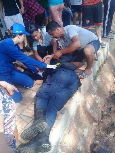 Dos policías gravemente heridos en accidente en Rojas Cañada