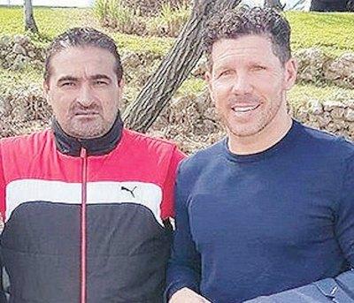 """Toro"" Acuña se encontró con Diego Simeone"