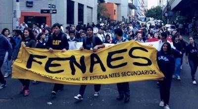 Movilización: Estudiantes secundarios exigen destitución de ministro y mayor presupuesto para educación pública