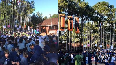ESTUDIANTES MOVILIZADOS EN EL COLEGIO TÉCNICO NACIONAL.