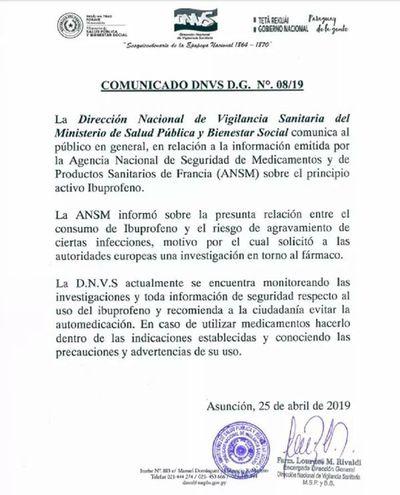 Ministerio de Salud emite alerta