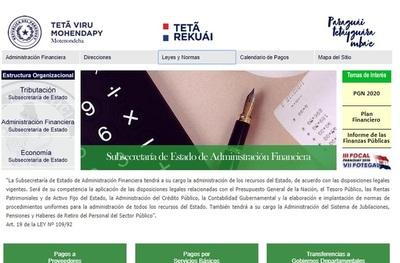 Hacienda dispone en su web los detalles sobre recursos del Estado