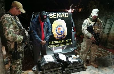 Senad saca de circulación 7.500 dosis de crack en Hernandarias