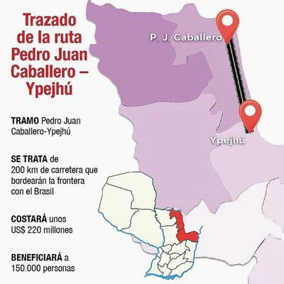 Licitarán ruta de 200 km en la zona fronteriza con Brasil
