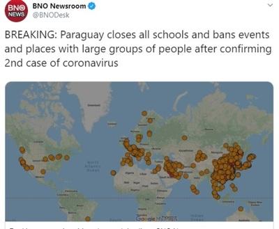 El mundo felicita a Paraguay por las drásticas medidas contra el coronavirus