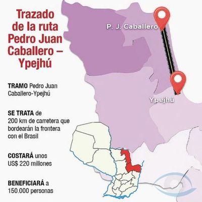 Licitarán ruta PY17; P. J. Caballero