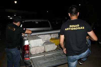 Confiscan cerca de 400 kilos de cocaína en el límite entre Concepción y Amambay