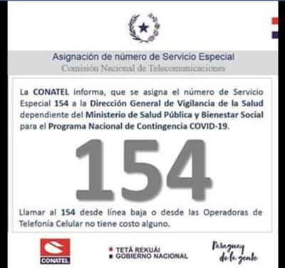 Conatel habilita el 154 para la Dirección de Vigilancia
