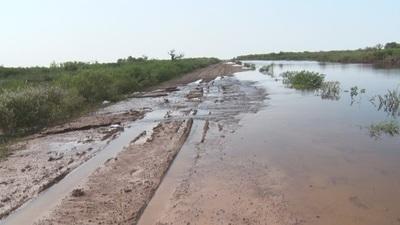 Camino inaugurado por el presidente Mario Abdo en el Chaco está en mal estado
