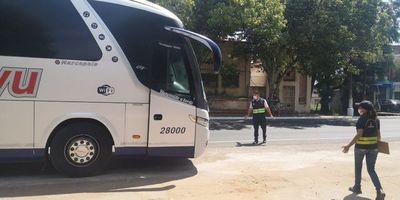 Dinatran también ordena desinfección y limpieza de buses