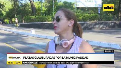 Covid-19: Plazas clausuradas por la municipalidad de Asunción