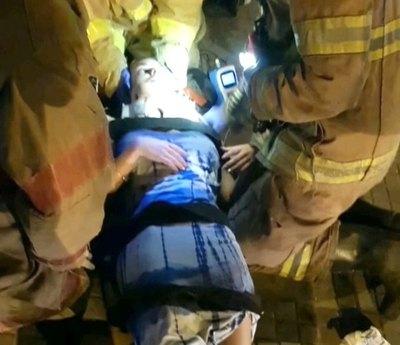Fátima Gauto sufrió un violento accidente