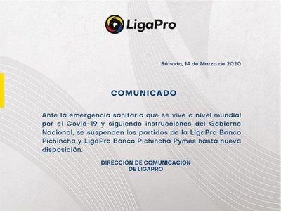 Ecuador suspende su campeonato