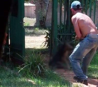 Detienen a un hombre que ahorcó salvajemente a un perro