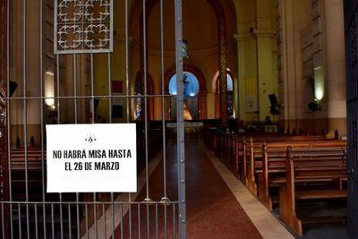 Inédita misa a puertas cerradas en Caacupé