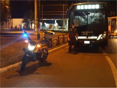 Patrulla Caminera sacó sus buses para traslado de pasajeros