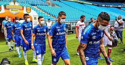 La protesta de jugadores del Gremio por el coronavirus