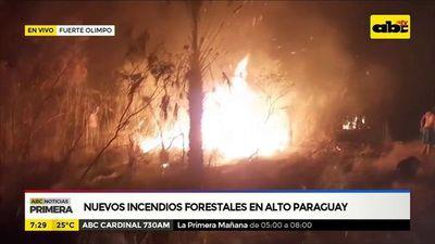 Nuevos incendios forestales en Alto Paraguay
