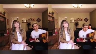 Con cánticos religiosos, Marilina y Will entretienen a su fans