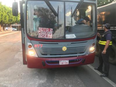 Dinatran continúa con los controles en el transporte público