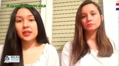 Becarios paraguayos envían apoyo a compatriotas