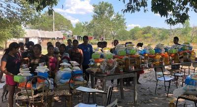 Comunidades indígenas de Central reciben asistencia alimentaria e informaciones sobre Covid-19