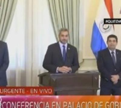 Mario Abdo Benítez anuncia medidas para reactivar economía