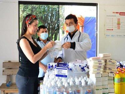 Intendenta de Sapucai gastó todo su salario en insumos para centro de salud