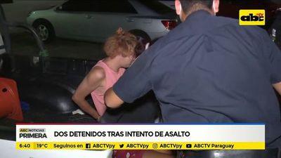 Dos detenidos tras intento de asalto