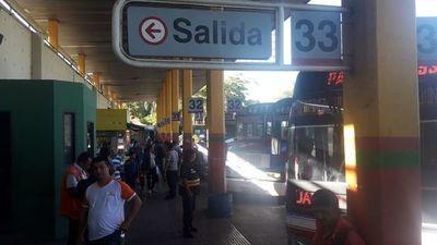 Terminal de Ómnibus de Asunción cierra como medida preventiva ante el coronavirus