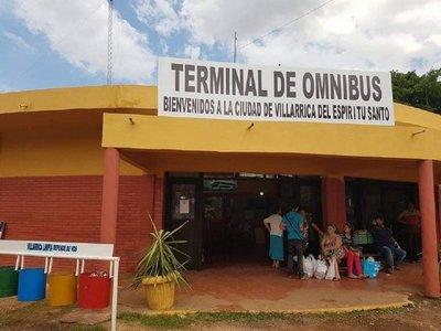 Ante avance del coronavirus, cierran Terminal de ómnibus de Villarrica