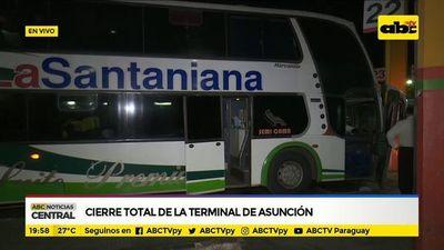 Cierre total de la terminal de Asunción