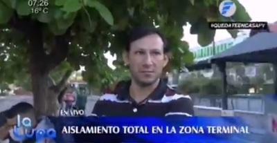 Trabajadores quedan varados tras cierre de Terminal de Asunción