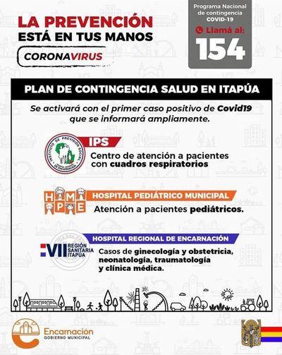 Autoridades establecen plan de contingencia de salud en Itapúa