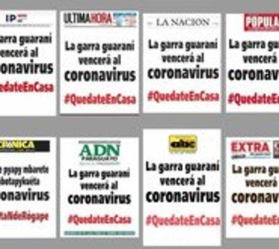 Diarios de circulación masiva emiten el mismo mensaje en sus portadas