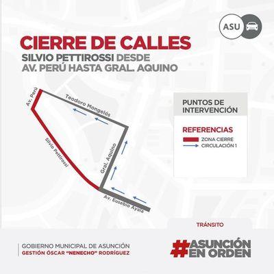 Municipalidad cerrará calles aledañas al Mercado 4